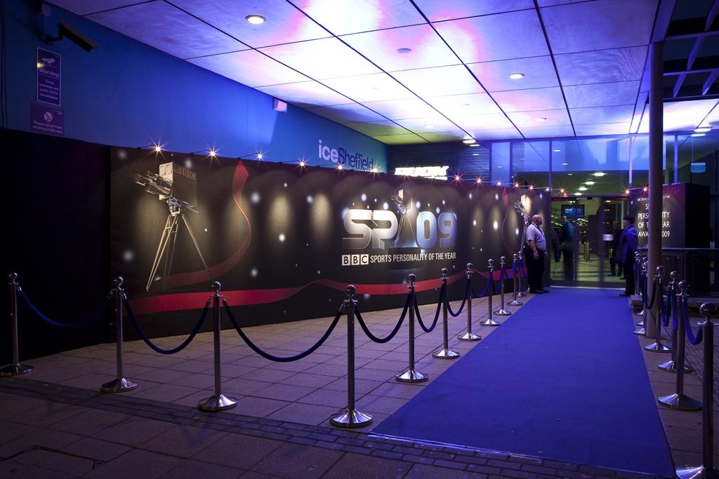 VIP Entrance at ice Sheffield