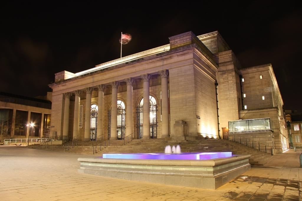 Sheffield City Hall external night shot