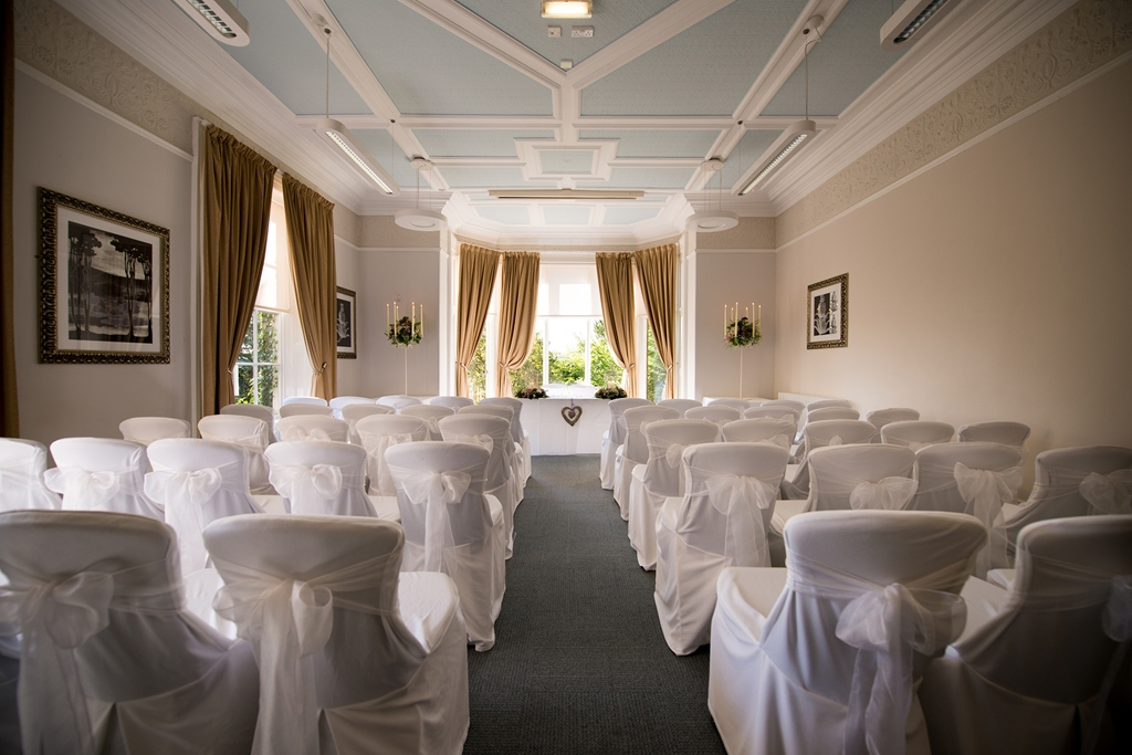 Ennis Room set up for a wedding