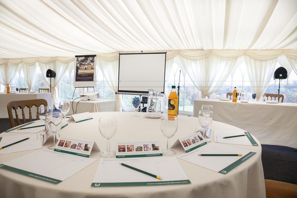 Conference in marquee