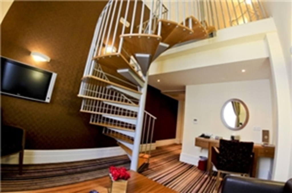 Spiral Staircase in a Mezzanine Suite